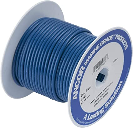 Black, 25 Feet, 6 AWG Ancor Marine Grade Primary Wire and Battery Cable