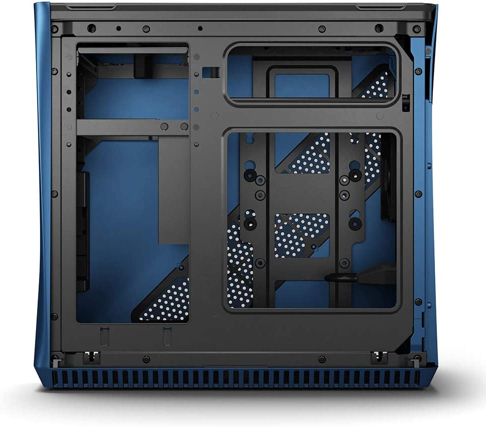 FD-CA-ERA-ITX-BU Fractal Design Era ITX Cobalt Anodized Aluminum//Steel Mini-ITX Compact Modular Small Form Factor Computer Case with Dark Tint Tempered Glass Top Panel