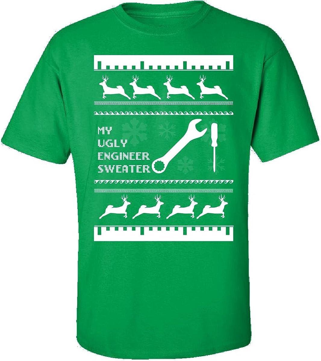 Feo Jersey de Navidad regalo para cualquier fan de ingeniero–Adulto camiseta
