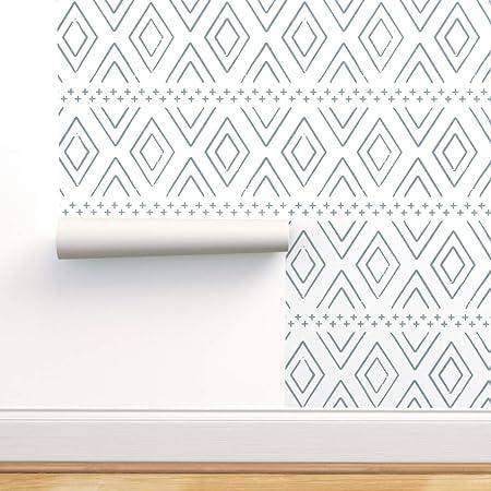 Spoonflower Peel And Stick Removable Wallpaper Boho Diamonds