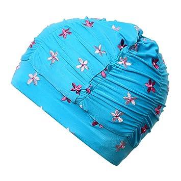 Bonnet de Bain Mode Confortable Tissu Bonnet de Bain bébé sans tête Cheveux  Longs Protection des c3af4df98e7