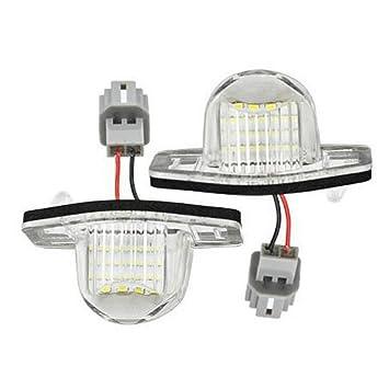GOFORJUMP 2Pcs LED Número de matrícula Lámpara de luz para H/onda Jazz Fit CRV ODYSSEY FRV HRV INSIGHT Stream Crosstour: Amazon.es: Coche y moto