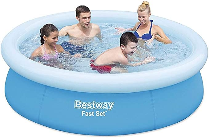 Amazon.com: Bestway Fast Set piscina inflable sobre el suelo ...