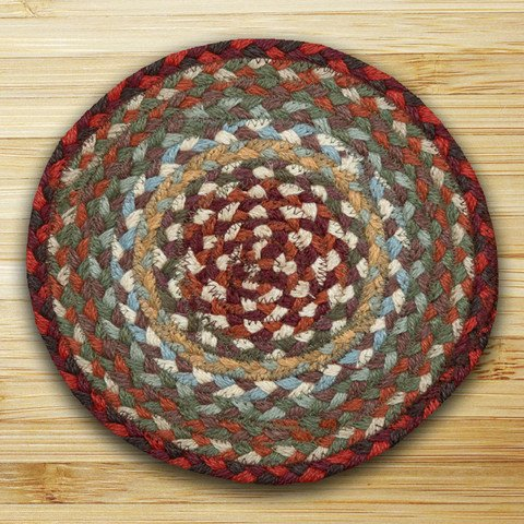 Earth Rugs 00-417 Swatch, 10 x 15, Thistle Green/Country Red ()