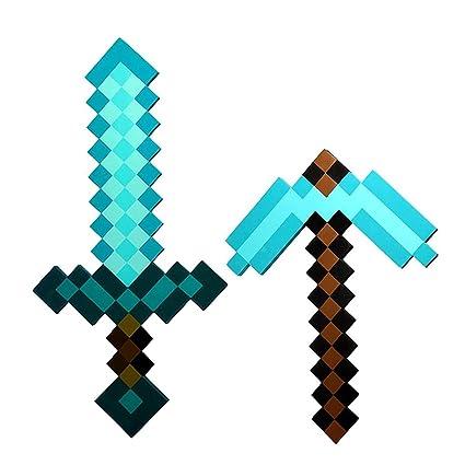 minecraft diamond axe vs sword