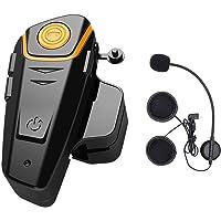 Intercom Moto Bluetooth, ENCHICAS BT-S2 Kit Oreillette Bluetooth Casque Moto Interphone Main Libre