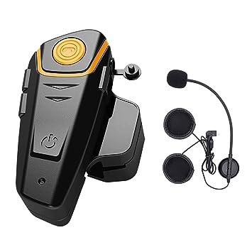 Intercom Moto Bluetooth, ENCHICAS BT-S2 Kit Oreillette Bluetooth Casque Moto  Interphone Main Libre 1d95bb7dfc08