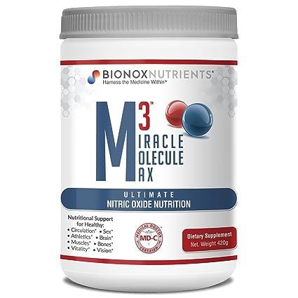 BioNox Nutrients óxido nítrico Superior - M3 Miracle Molecule Max - Suplemento con Arginina y Citrulina...