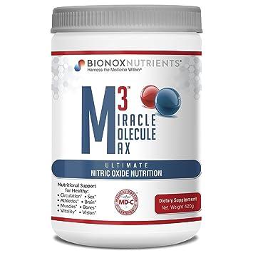 BioNox Nutrients óxido nítrico Superior - M3 Miracle Molecule Max - Suplemento con Arginina y Citrulina