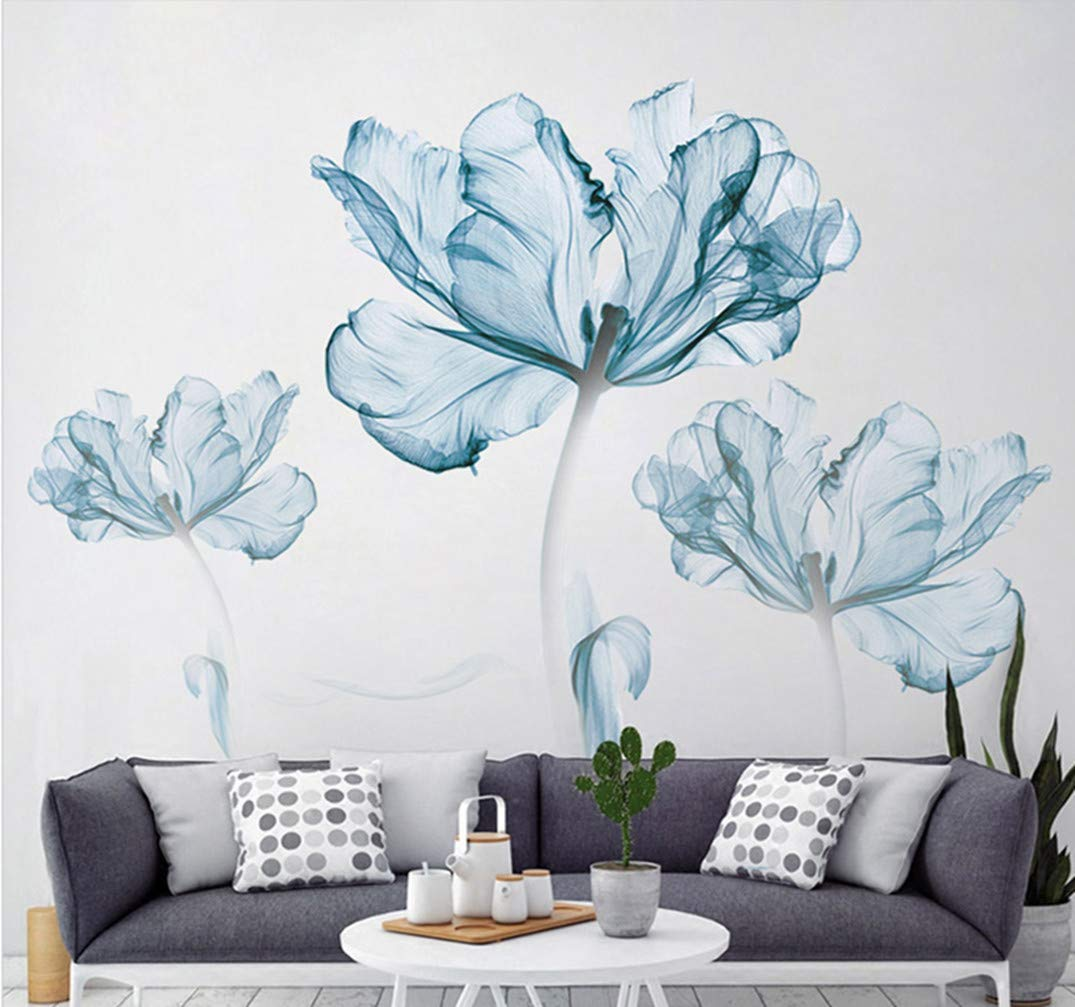 DERUN TRADING Wall Stickers & Murals Home Décor Home Décor Accents for Living Room Flower Wall Decals Home Improvement Paint Wall Treatments Wall Decals Murals Decor Vinyl Removable Mural Paper ... by DERUN TRADING