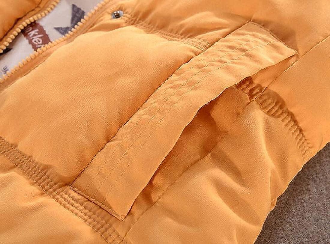 LEISHOP Womens Winter Padded Puffer Ski Vest Gilet Removable Hood Vest