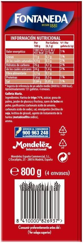 Fontaneda - La Buena Maria Galletas, 800 g: Amazon.es: Alimentación y bebidas