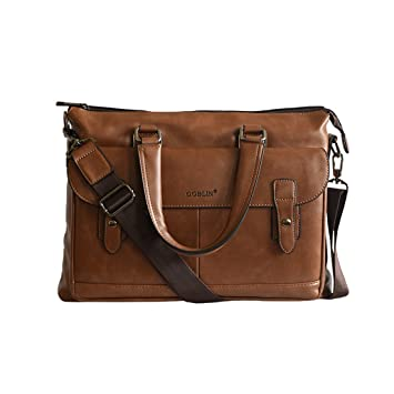 1458c839f3b Goblin Plutus Brown PU Leather Office Bag  Amazon.in  Bags