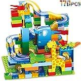 CHTOY スロープトイ 積み木 ジャングル大冒険 おもちゃ ルーピング コースター ブロック 立体パズル 知育玩具 子ども 子供用 クリスマス 誕生日 プレゼント (170PCS)