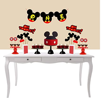 Mickey Mouse One Banner Made In Usa 1st Birthday Handmade