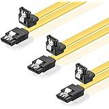 Deleycon SATA Cable + Sets 3x 50cm Winkel - Gelb
