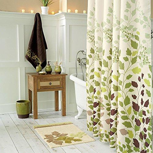 Ds Bath Tulip Tree Green Leaves Shower Curtain Flower