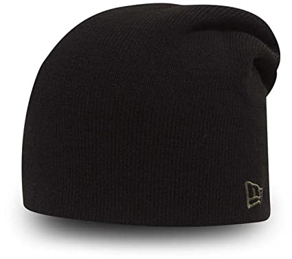 f5b5087669c New Era Essential Long Knit Beanie Black New Olive One Size Fits All   Amazon.co.uk  Clothing