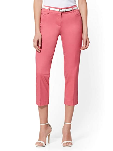 4a7c21f47b4f New York & Co. Women's Tall Crop Slim-Leg Pant - Signature Fit - 7Th Avenue  at Amazon Women's Clothing store: