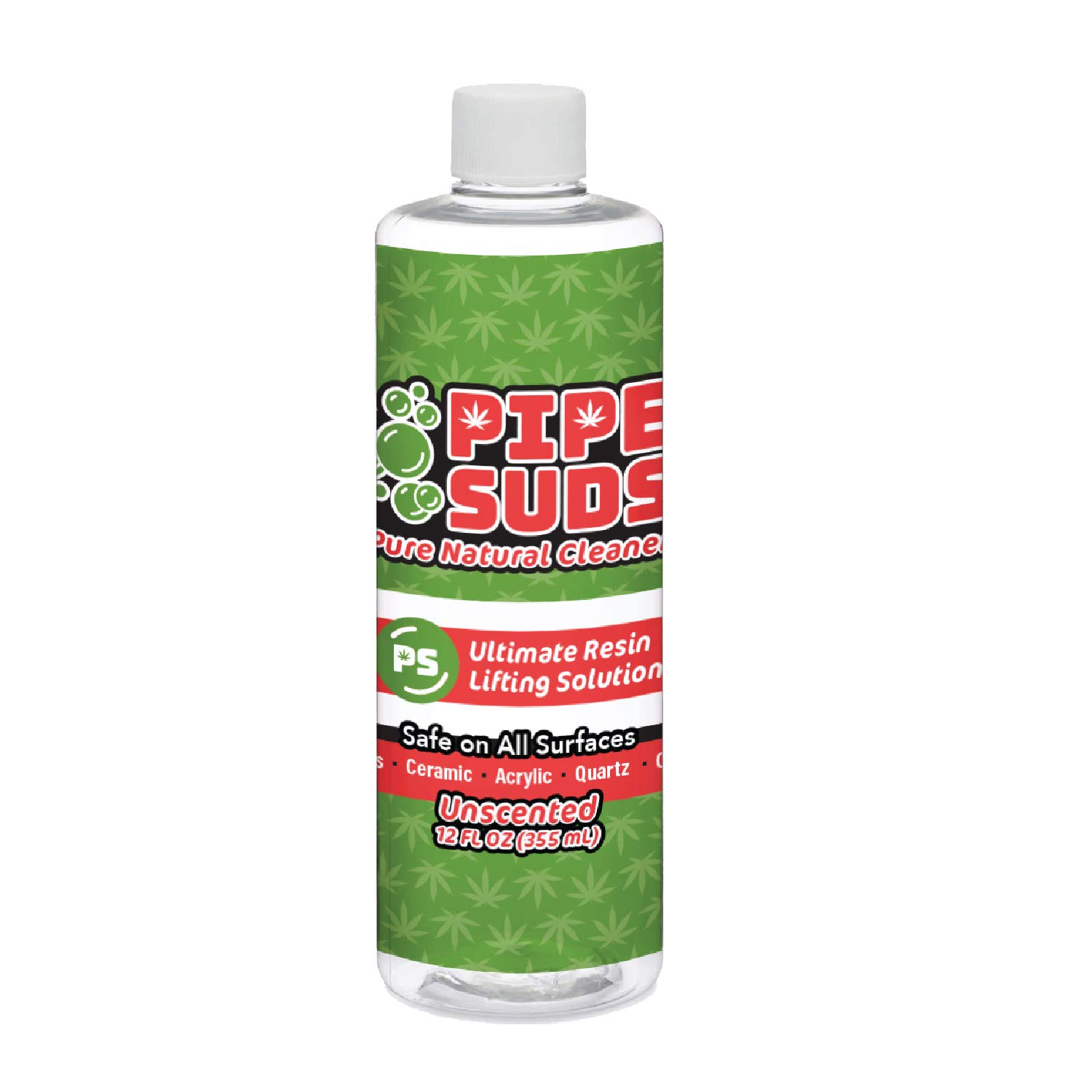Pipe Suds Pure Natural Bong, Pipe-Bubbler, Vape, Glass, Acrylic, Ceramic Cleaner, 12oz. Unscented by EcoPro Natural, Inc.