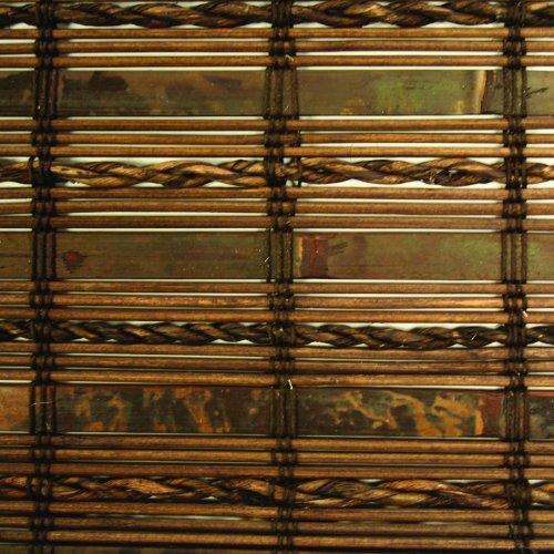 Lewis Hyman 0215486 Havana Bamboo Roman Shade, 23-Inch Wide by 72-Inch Long, Cocoa