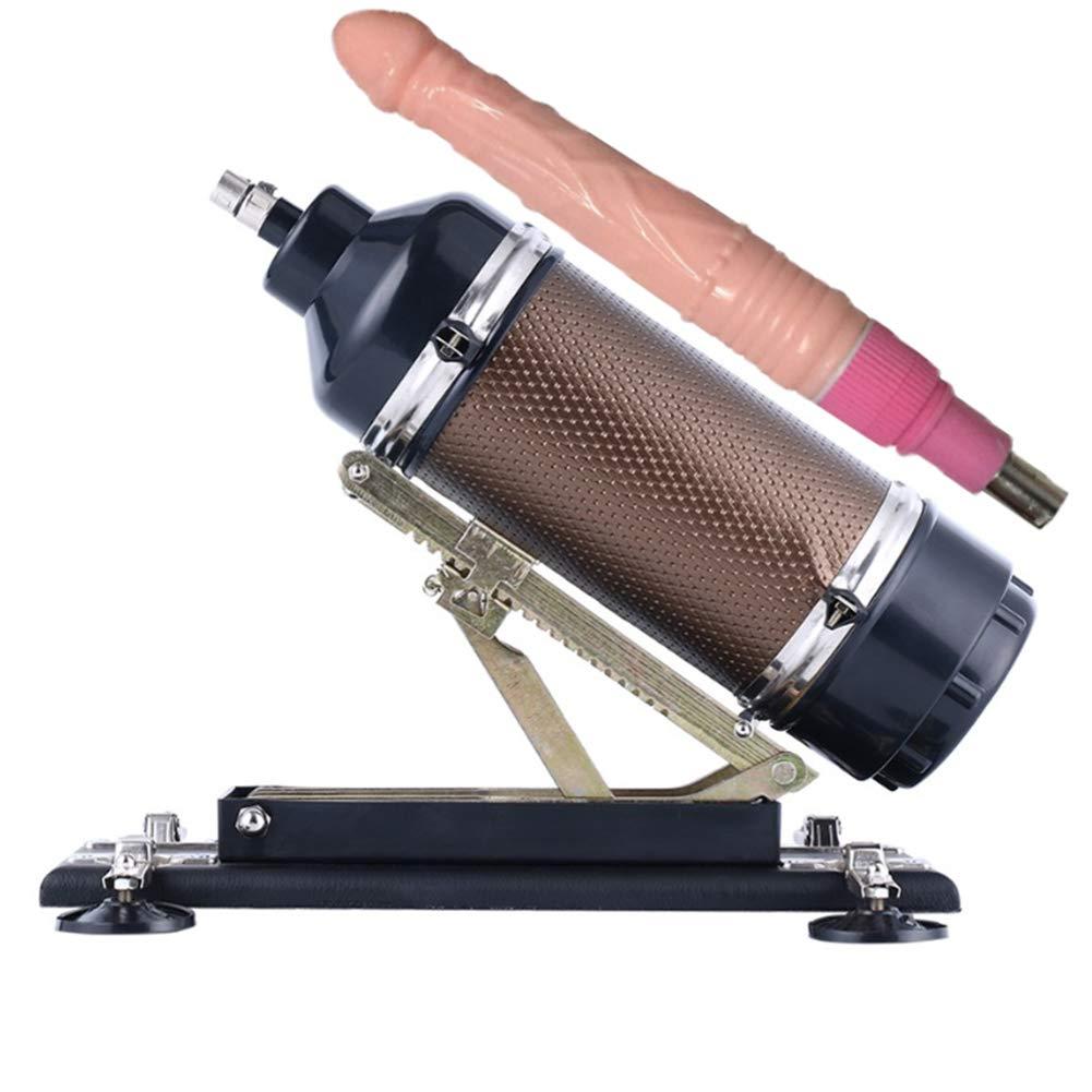 ZBB Máquina de para Sexo telescópica para de Hombres y Mujeres, con consoladores y Control de tensión progresiva Máquina de Sexo con Ajuste automático de Velocidad múltiple con Oro 2 en 1 60ff51