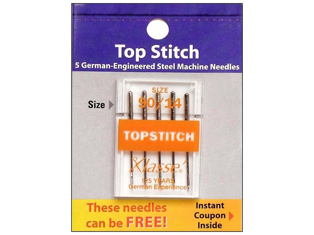 Klasse' Top Stitch Needles Size 90/14 Klasse Needles