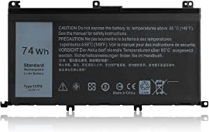 Ding New 357F9 Replacement Laptop Battery Compatible with Dell 357F9 Inspiron 7557 Dump 15 7557 7559 INS15PD Series 357F9 74Wh 0GFJ6 357F9 71JF4