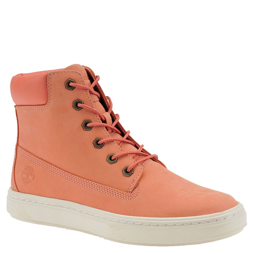 Timberland Womens Londyn 6'' Dark Pink Nubuck 5.5 B - Medium