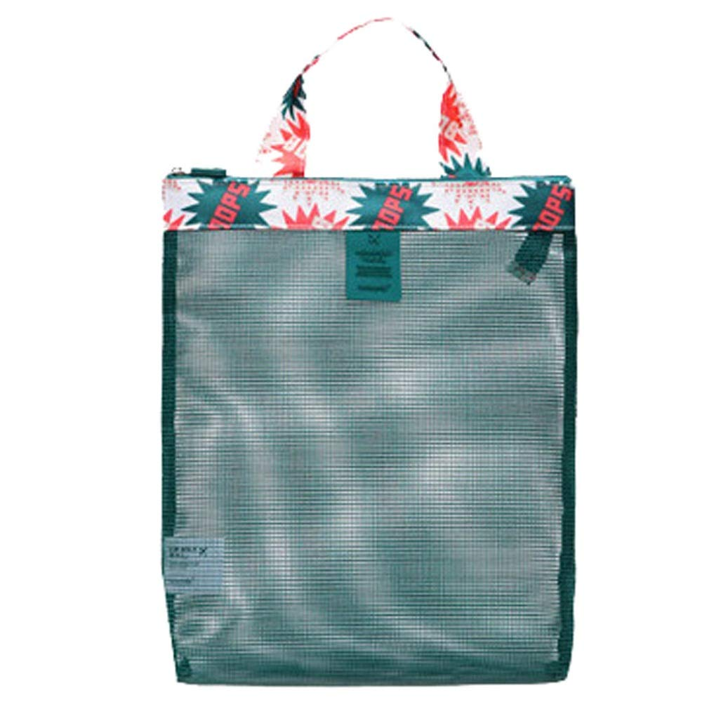 AGUIguo Large Capacity Sand-Away Carrying Bag Beach Toys Swimming Pool Mesh Bag Tote Bags Sea Shell Easy to Carry Good Select for Outdoor and Home (B)