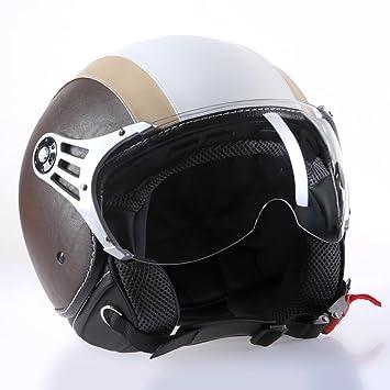 Citomerx CMX Chap - Casco para moto (piel, tamaño XL),