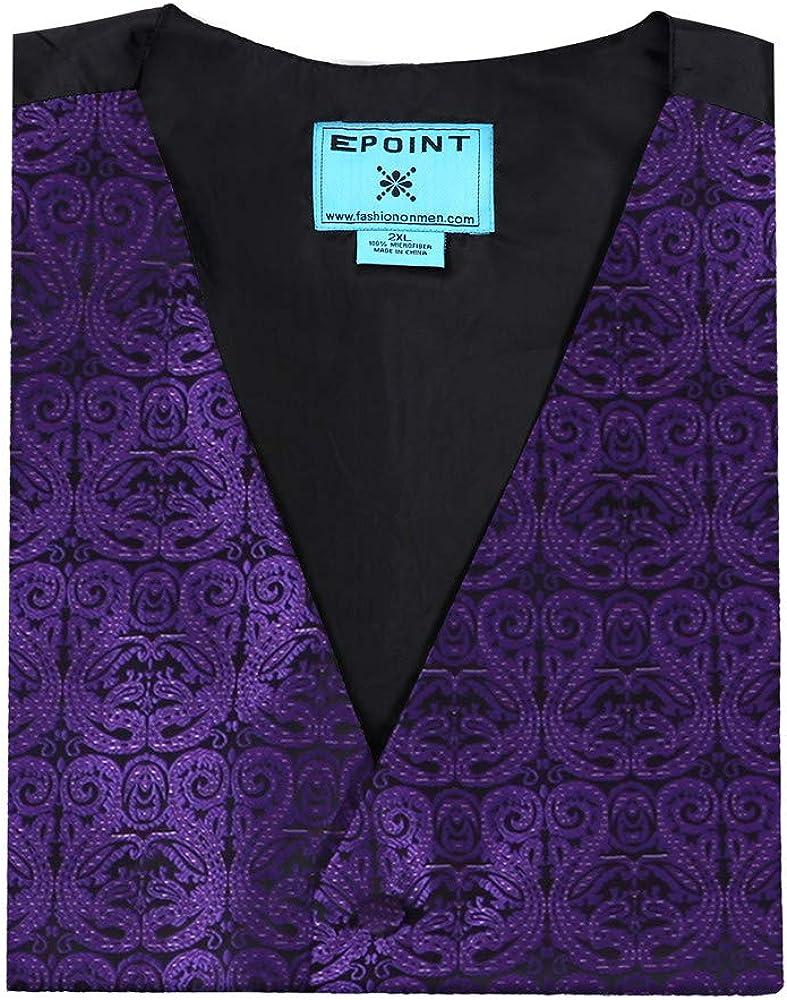 Dan Smith DGDE0010-S Red Plain Microfiber Classic Tuxedo Vests Satin Luxury For Pretty Vest Matching Neck Tie