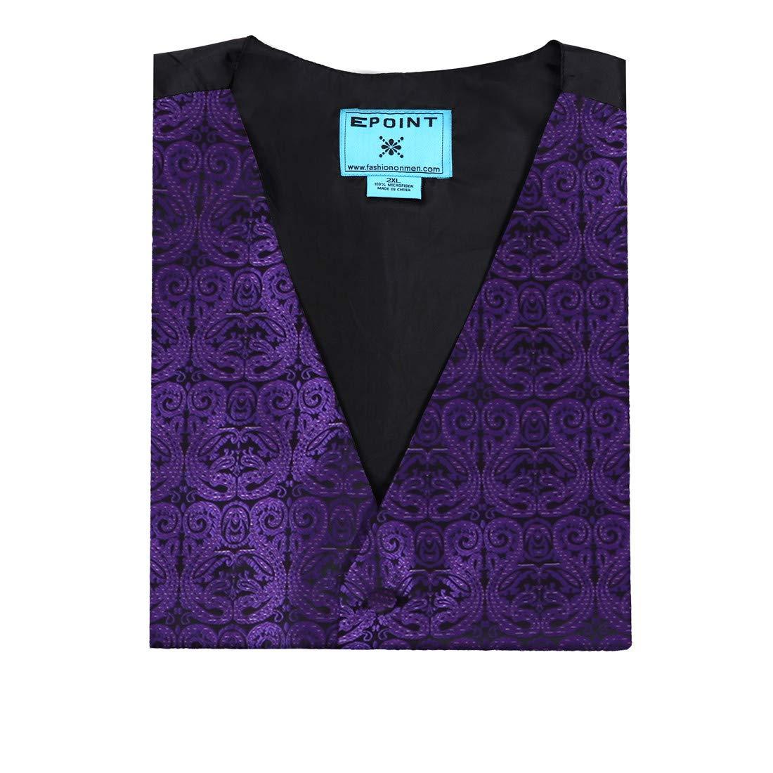 Epoint EGC1B01-03 Multi Mens Paisley Waistcoat Woven Microfiber S-5XL Vest
