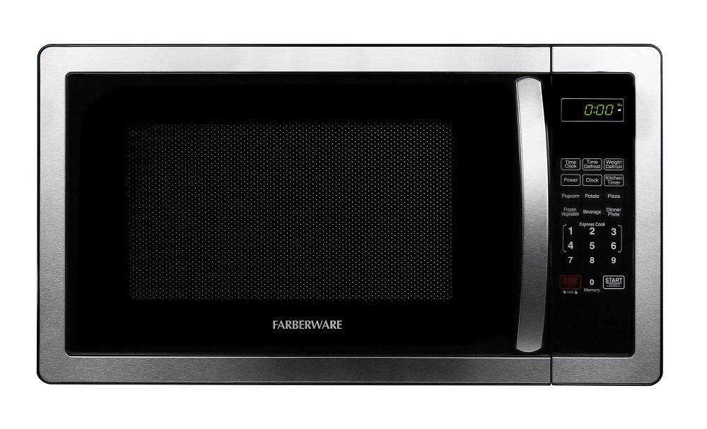 Farberware FMWO11AHTBKB Classic FMO11AHTBKB 1.1 Cubic Foot 1000-Watt Microwave Oven, Stainless Steel by Farberware (Image #1)