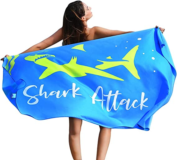 """Oversize XL Microfiber Beach Towel 78x35/"""" for Pool Aperetif Extra Large Shower Swim Quick Dry Sand Free Compact Soft Pleasant Touch Easy to Carry Travel Fun Ripple Design 6 Fashion Colors"""