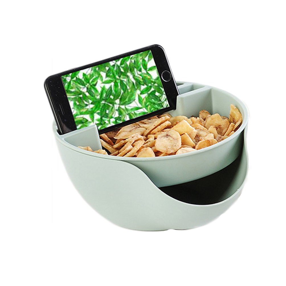 bismarckbeer Double Layers Pistachios Bowl Snacks Fruit Nuts Plate Dish Phone Holder