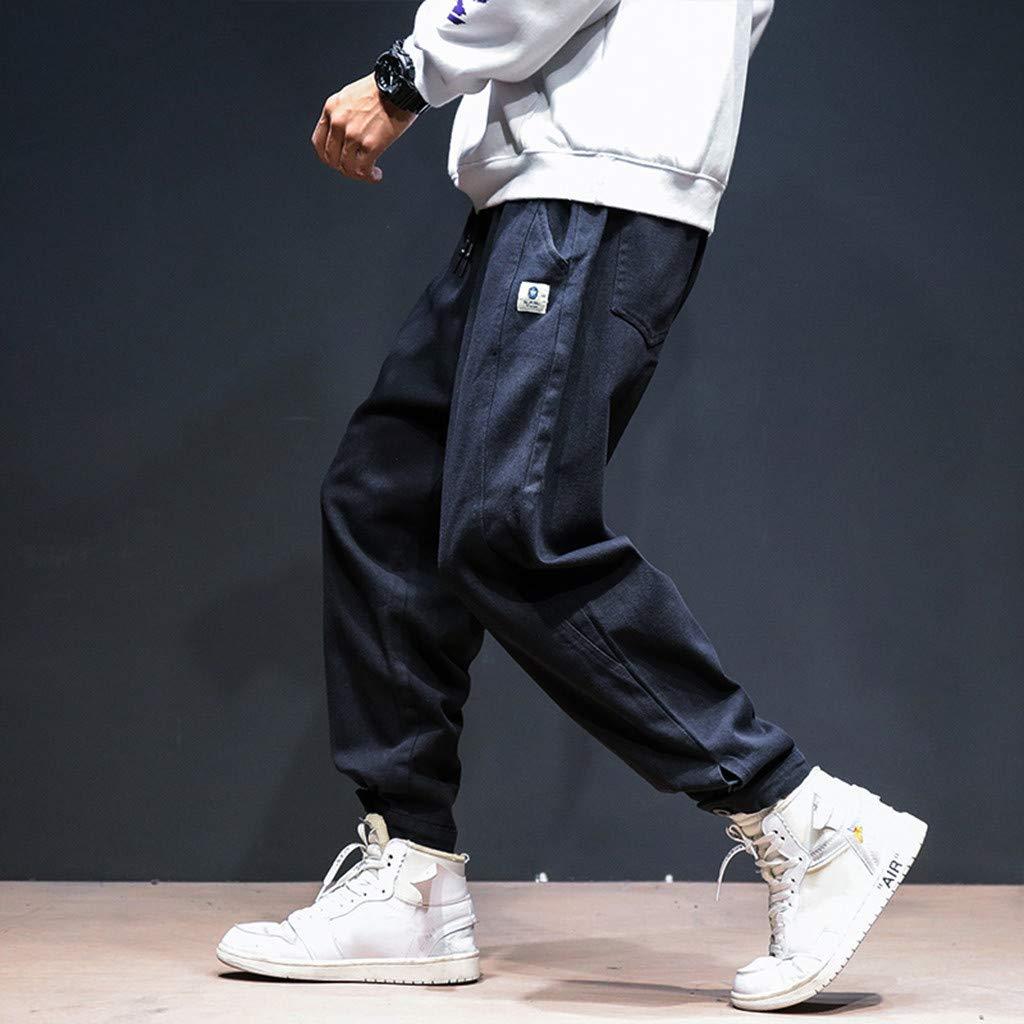 Mymyguoe Hombres Otoño Invierno Pies pequeños Pantalones Noveno Pantalones Pantalones De CháNdal Deporte Joggers Pants Algodón Baggy Pants Slacks hasta El ...