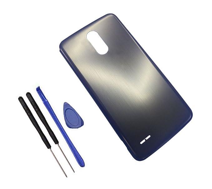 super popular b92d6 dddd4 Battery Door Cover Back Case Replacement for LG Stylus/Stylo 3 LS777 / M430  / K10 Pro / M470F / M400DK Gray