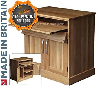 heartland oak 100 solid oak desk drop down computer desk workstation hideaway