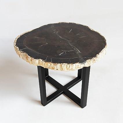 Wood Slice Coffee Table.Amazon Com Petrified Wood Slice Side Table Garden Outdoor