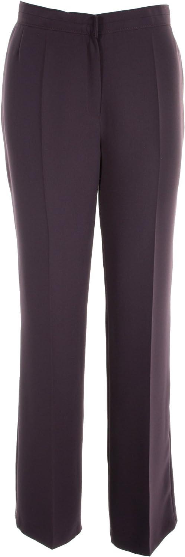 "Length 29/"" /& 31/"" Busy Dark Purple Smart Ladies Trousers"