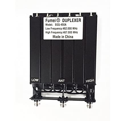 Fumei UHF 400-470MHz 30W Duplexer for Radio Repeater with Preseted Low  Frequency 462MHz & High Frequency 467MHz & N Female connectors