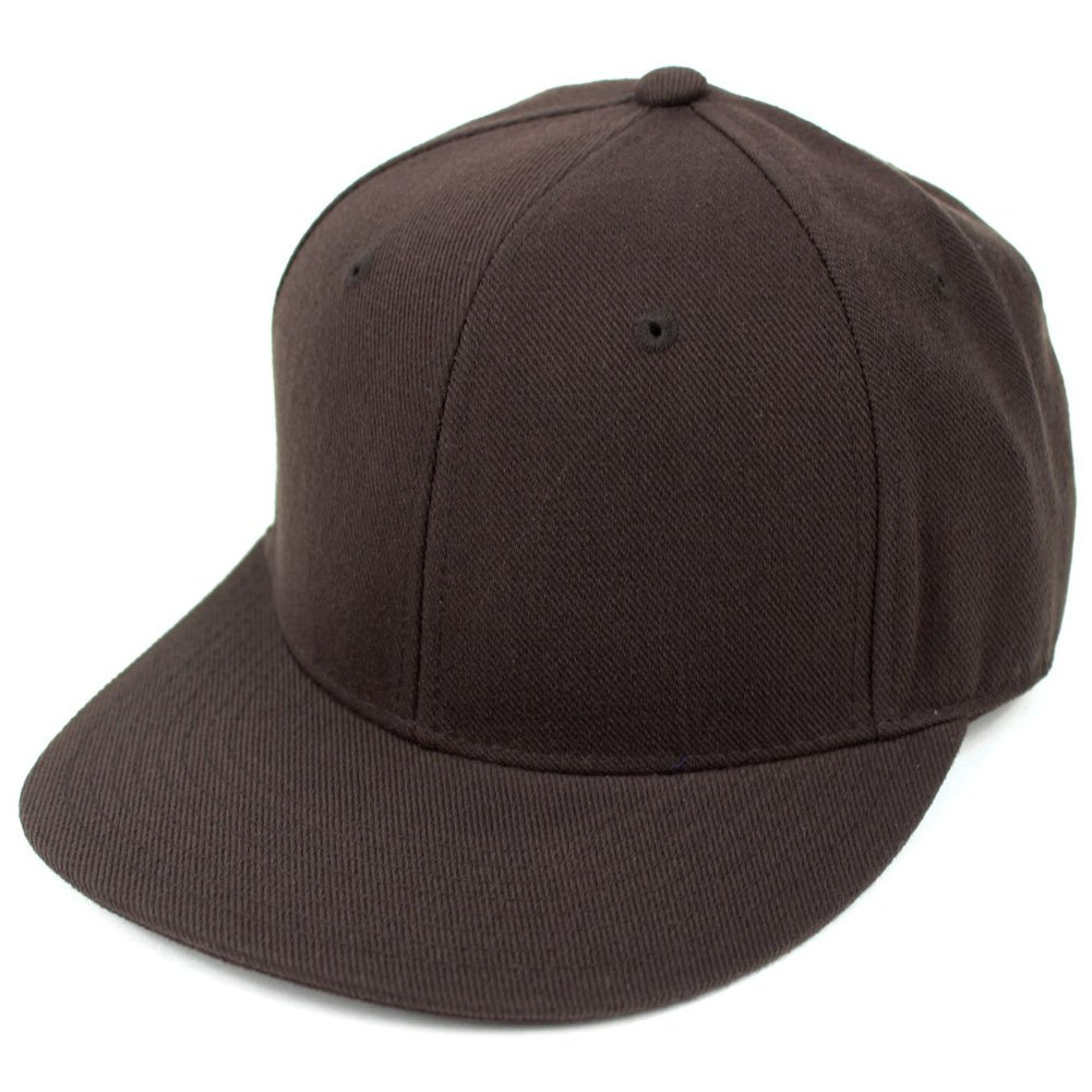 3db69a9f255 DECKY Men s Fitted Baseball Hat Cap Flat Bill Blank at Amazon Men s  Clothing store