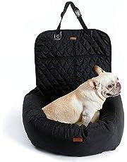 REXSONN 2in1 Hund Autositz Bett - wasserdicht & Rutschfeste Katze Reisen Front Booster Sitze, Abnehmbare Abdeckung und Kissen