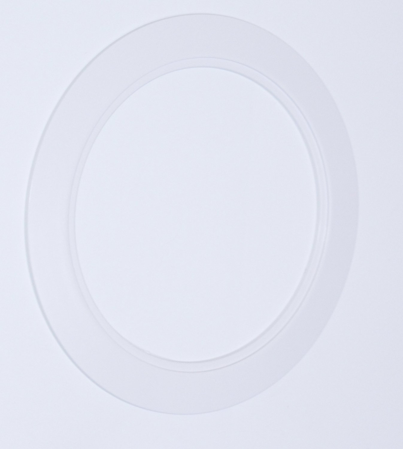 25 Pack-White Light Trim Ring Recessed Can 6'' Inch Over Size Oversized Lighting Fixture