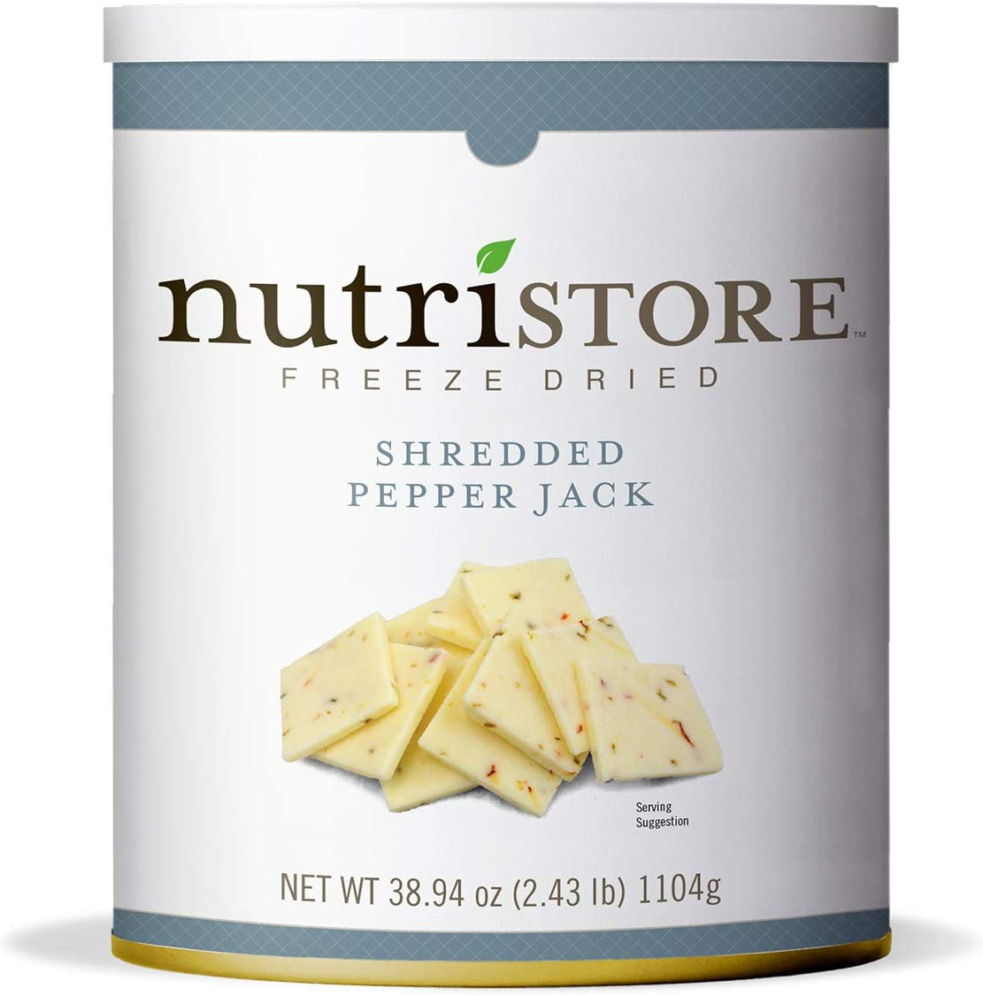 Nutristore Freeze-Dried Pepper Jack Cheese Shredded | Amazing Taste & Quality | Perfect for Snacking, & Backpacking/Camping Meals | Emergency Survival Food Storage | 25 Year Shelf-Life