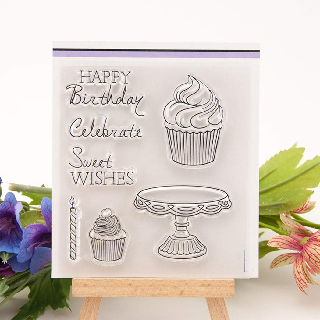Clear Stamps for Card Making Paper Crafts DIY Scrapbooking with Cute Cat and Dog