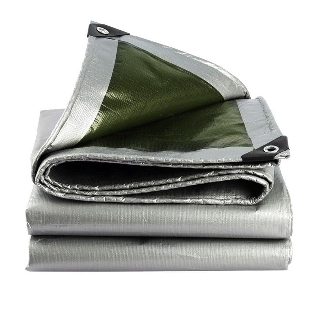 KKCF オーニング ターポリン 腐食保護 防水 シェード カーポート ポリエチレン 厚さ:0.35mm。 、185±5G / M2 、21サイズ (色 : Silver green, サイズ さいず : 3x6m) B07FX6KB34 3x6m|Silver Green Silver Green 3x6m