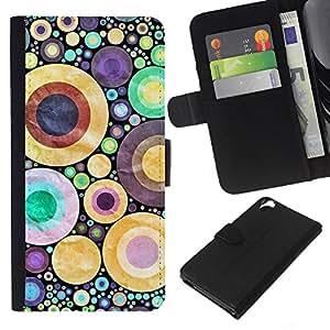 EJOY---La carpeta del tirón la caja de cuero de alta calidad de la PU Caso protector / HTC Desire 820 / --Diseño abstracto de los lunares