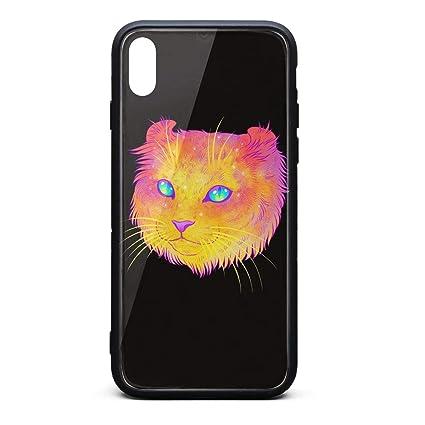 Amazon.com: Funda para iPhone XS MAX Colorful Space Sphinx ...